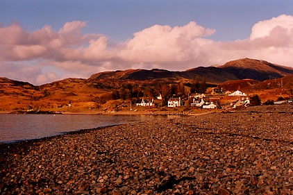 The village of Glenelg from the direction of the Sound of Sleat